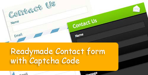 Readymade Contact Form with Captcha Code