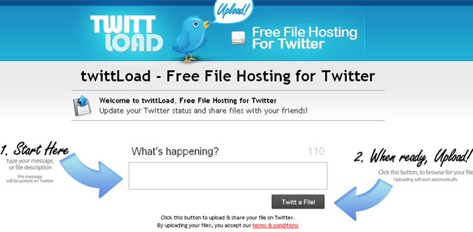 twittload Free File Hosting for Twitter with TwittLoad
