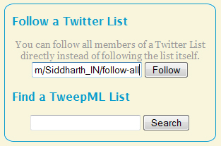 Follow Everyone in a Twitter List with TweepML