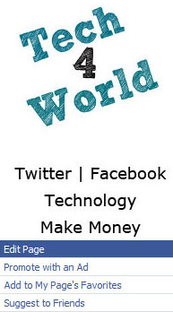 facebook fanpage tech4world