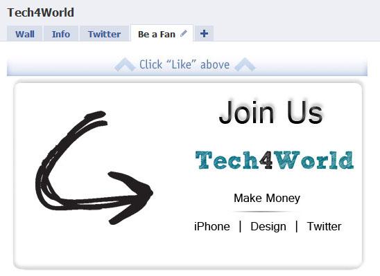 tech4world facebook fan page