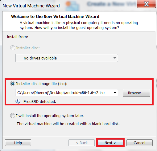 how-to-install-android-os-on pc-using-vmware