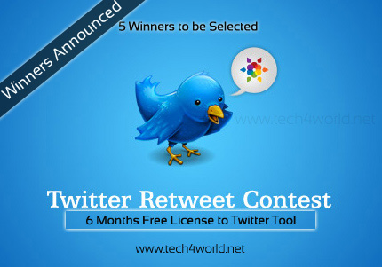 Winners Announced – Retweet And Win Contest
