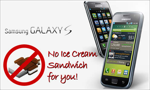 Ice Cream Sandwich on Galaxy S, Galaxy Tab
