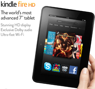 Alternative 2: Amazon Kindle Fire HD: