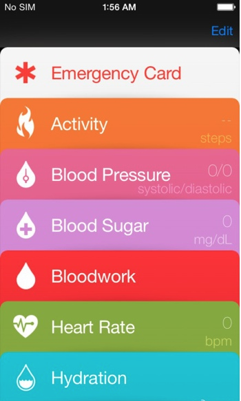 Healthbook ios8 concept