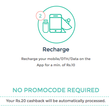 Get Rs.20 Instant Cashback on Rs.10 Recharge