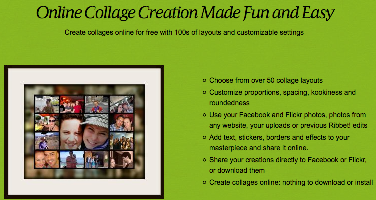 Online Collage Creation Made Fun and Easy - Ribbet